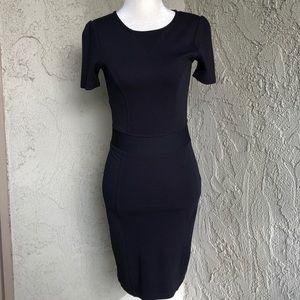 French Connection Navy Blue Bodycon Dress Sz 4